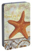 Coastal Decorative Starfish Painting Decorative Art By Megan Duncanson Portable Battery Charger