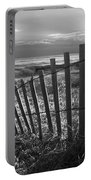 Coastal Dunes In Black And White Portable Battery Charger
