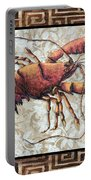 Coastal Lobster Decorative Painting Greek Border Design By Madart Studios Portable Battery Charger