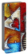 Coastal Martini Cityscape Contemporary Art Original Painting Heart Of A Martini By Madart Portable Battery Charger