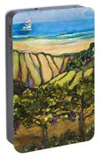 California Coastal Vineyards And Sail Boat Portable Battery Charger