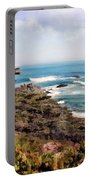 Coastal Sky And Evergreens Portable Battery Charger
