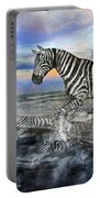 Coastal Stripes I Portable Battery Charger by Betsy Knapp