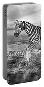 Coastal Stripes II Portable Battery Charger by Betsy Knapp