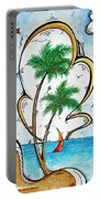 Coastal Tropical Art Contemporary Sailboat Kite Painting Whimsical Design Summer Daze By Madart Portable Battery Charger
