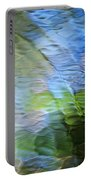 Coastline Mosaic Abstract Art Portable Battery Charger by Christina Rollo