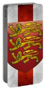 Coat Of Arms And Flag Of England Portable Battery Charger