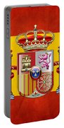 Coat Of Arms And Flag Of Spain Portable Battery Charger