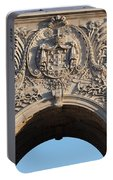 Coat Of Arms Of Portugal On Rua Augusta Arch In Lisbon Portable Battery Charger