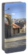 Cobblestone Street In Coporaque Portable Battery Charger