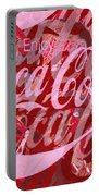 Coca-cola Collage Portable Battery Charger by Tony Rubino