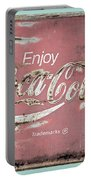 Coca Cola Pastel Grunge Sign Portable Battery Charger