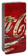 Coca Cola Sign Cracked Paint Portable Battery Charger