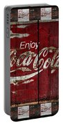 Coca Cola Sign With Little Cokes Border Portable Battery Charger