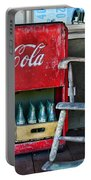 Coca Cola Vintage Cooler And Rocking Chair Portable Battery Charger