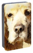 Cocker Spaniel Art - Mellow Yellow Portable Battery Charger