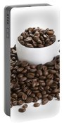 Coffee Beans And Coffee Cup Isolated On White Portable Battery Charger