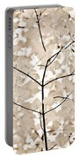 Coffee Brown Leaves Melody Portable Battery Charger