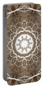Coffee Flowers 1 Ornate Medallion Portable Battery Charger