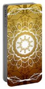 Coffee Flowers 1 Ornate Medallion Calypso Portable Battery Charger