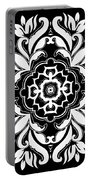 Coffee Flowers 10 Bw Ornate Medallion Portable Battery Charger