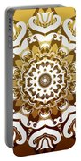 Coffee Flowers 10 Calypso Ornate Medallion Portable Battery Charger