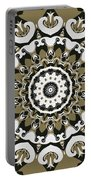Coffee Flowers 10 Olive Ornate Medallion Portable Battery Charger