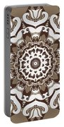 Coffee Flowers 10 Ornate Medallion Portable Battery Charger by Angelina Vick