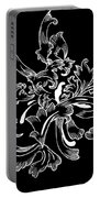 Coffee Flowers 11 Bw Portable Battery Charger