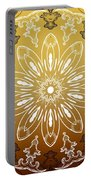 Coffee Flowers 11 Calypso Ornate Medallion Portable Battery Charger
