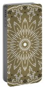 Coffee Flowers 11 Olive Ornate Medallion Portable Battery Charger