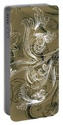 Coffee Flowers 2 Olive Portable Battery Charger