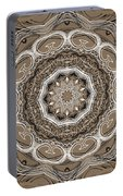 Coffee Flowers 2 Ornate Medallion Portable Battery Charger