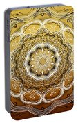 Coffee Flowers 2 Ornate Medallion Calypso Portable Battery Charger