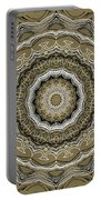 Coffee Flowers 2 Ornate Medallion Olive Portable Battery Charger