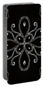 Coffee Flowers 4 Bw Ornate Medallion Portable Battery Charger