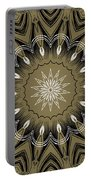 Coffee Flowers 4 Olive Ornate Medallion Portable Battery Charger