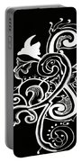 Coffee Flowers 5 Bw Portable Battery Charger