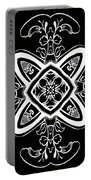 Coffee Flowers 5 Bw Ornate Medallion Portable Battery Charger