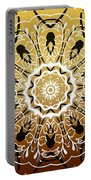 Coffee Flowers 5 Calypso Ornate Medallion Portable Battery Charger