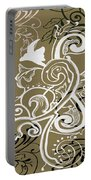 Coffee Flowers 5 Olive Portable Battery Charger