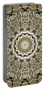 Coffee Flowers 5 Olive Ornate Medallion Portable Battery Charger