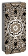 Coffee Flowers 5 Ornate Medallion Portable Battery Charger