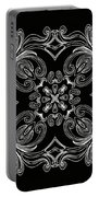 Coffee Flowers 6 Bw Ornate Medallion Portable Battery Charger