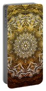 Coffee Flowers 6 Calypso Ornate Medallion Portable Battery Charger