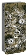 Coffee Flowers 6 Olive Portable Battery Charger