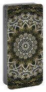 Coffee Flowers 6 Olive Ornate Medallion Portable Battery Charger