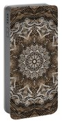 Coffee Flowers 6 Ornate Medallion Portable Battery Charger