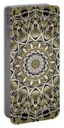 Coffee Flowers 7 Olive Ornate Medallion Portable Battery Charger