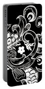 Coffee Flowers 8 Bw Portable Battery Charger